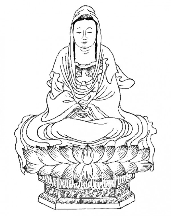 """Above: A Daoist Guanyin, adapted from Henrik Sorenson's article """"Looting the Pantheon."""""""