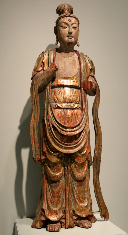 """Above: """"The Boddhisattva Avalokiteshvara (Chinese: Guanyin), 1300-1400 CE,"""" Asian Art Museum, catalog no. B61S37+"""