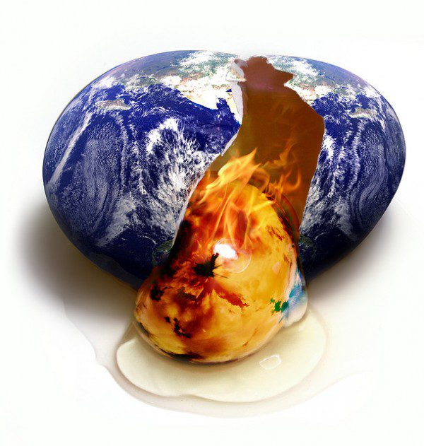 "photo by Mark Rain 'This is your Earth on global warming"" (cc) 2007."