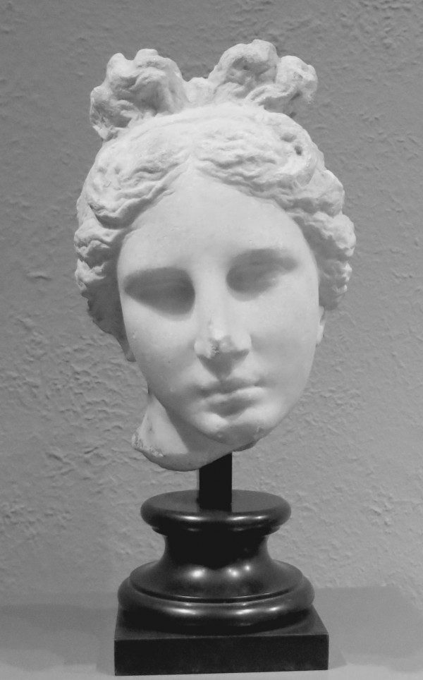 Aphrodite, Greek Late Classical or Early Hellenistic Period, about 330–300 B.C. Museum of Fine Arts, Boston. Bartlett Head of Aphrodite, associated with the style of Praxiteles. (cc)