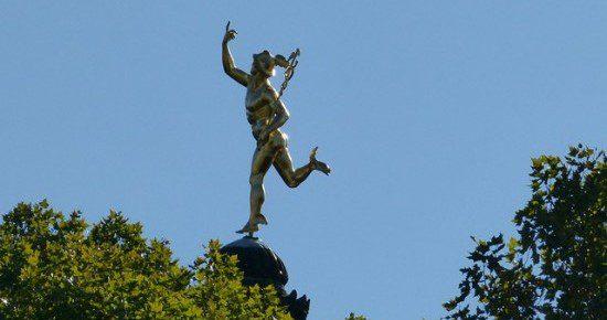 Public domain photo of Hermes in Stuttgart.