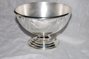 silver bowl with foot, as a chalice