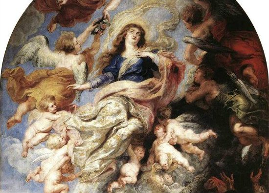 """""""Assumption of the VIrgin Mary"""" by Peter Paul Rubens. From WikiMedia."""