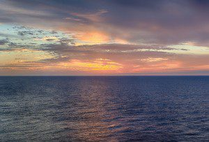 Ocean Sunset. photo by John Hilliard (cc) 2016.