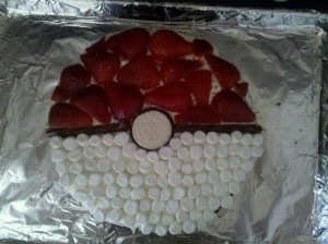 Poké Ball cake by author