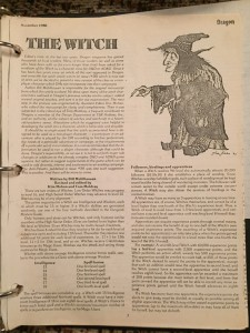 The Witch, article from Dragon Magazine Nov. 1980