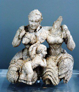 Women with Child. Photo by Katanos Adonis (cc) 2008. Mycenae 15c BCE.