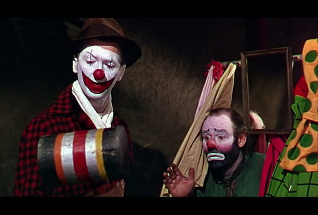 Jimmy Stewart, Emmett Kelly, The Greatest Show On Earth, 1952, Paramount Pictures.