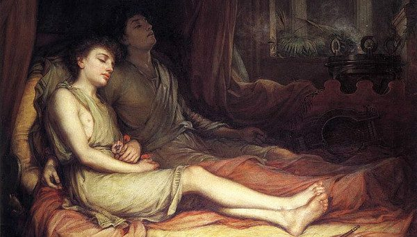 """Sleep and His Half Brother Death"" by John Waterhouse. From WikiMedia."