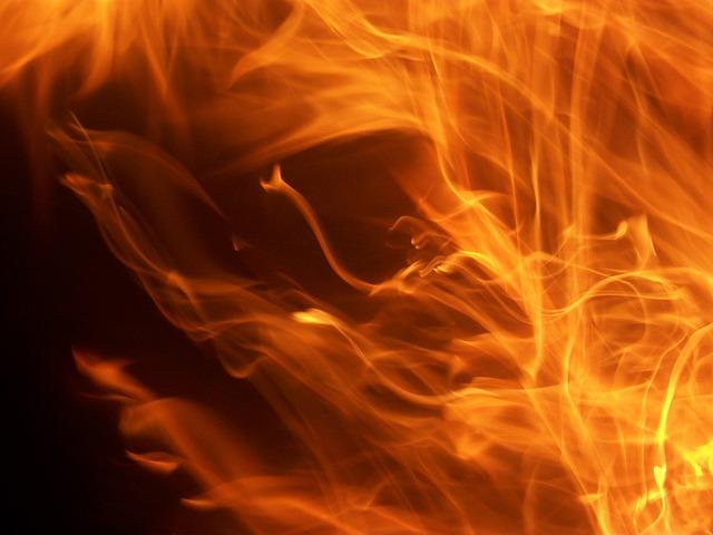 Dancing Flames - public domain
