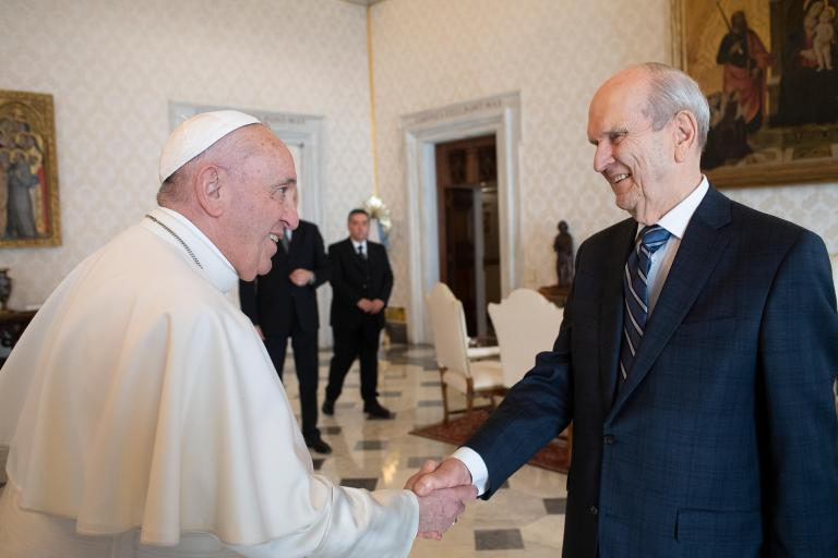 Pope Francis, Russell M. Nelson