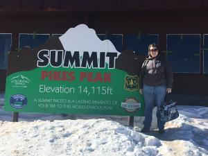 me at the summit of Pikes Peak