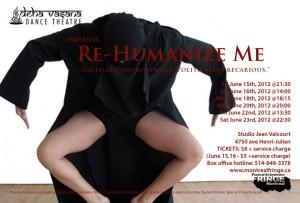 "Postcard image for ""Re-Humanize Me.""  Image via Deha Vasana."
