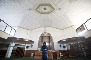 Praying at Masjid ul Islam, Johannesburg.