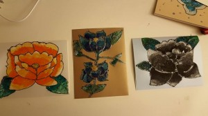 Ramadan cards with traditional Tehuana flower designs