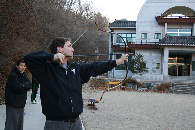 Zen archery with Master Jaan - (c)2009 by Polly Peterson, used with permission