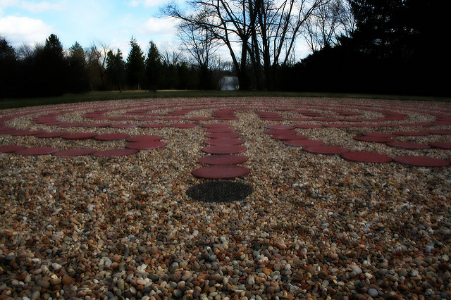 A labyrinth at the Theosophical Society of America
