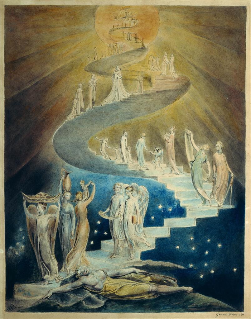 Jacob's Ladder - William Blake [Public domain], via Wikimedia Commons