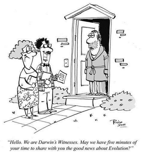 jehovahs witnesses evolution darwin
