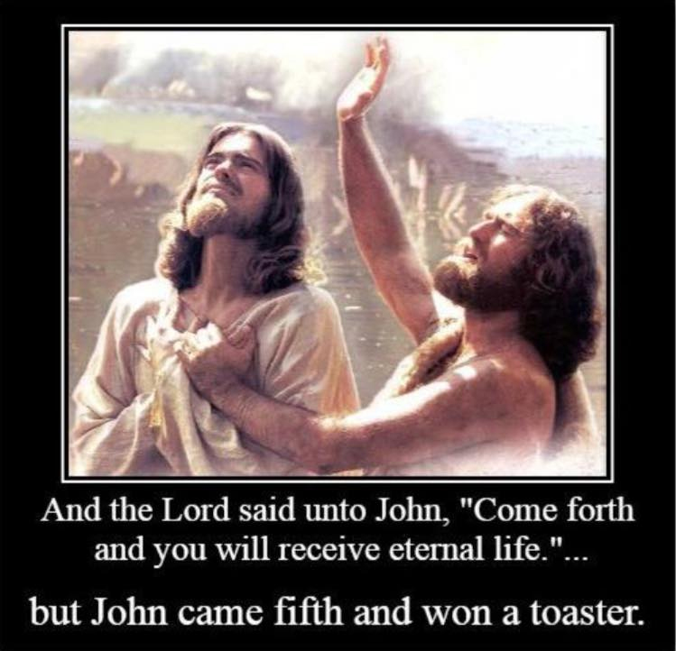 atheist joke john the baptist