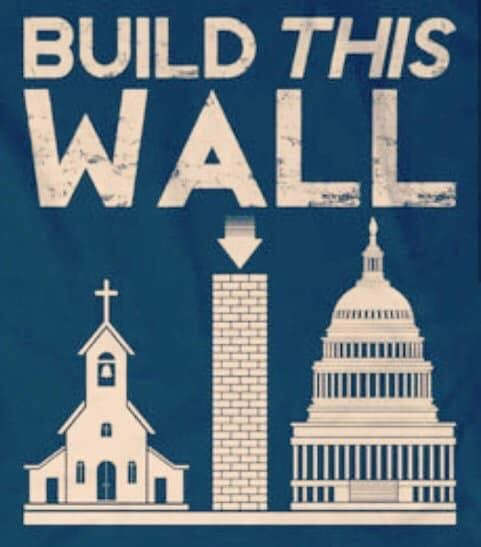church-state separation wall trump