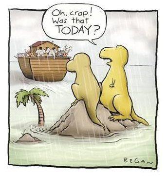 dinosaurs noah ark humor