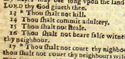 wicked bible shall commit adultery