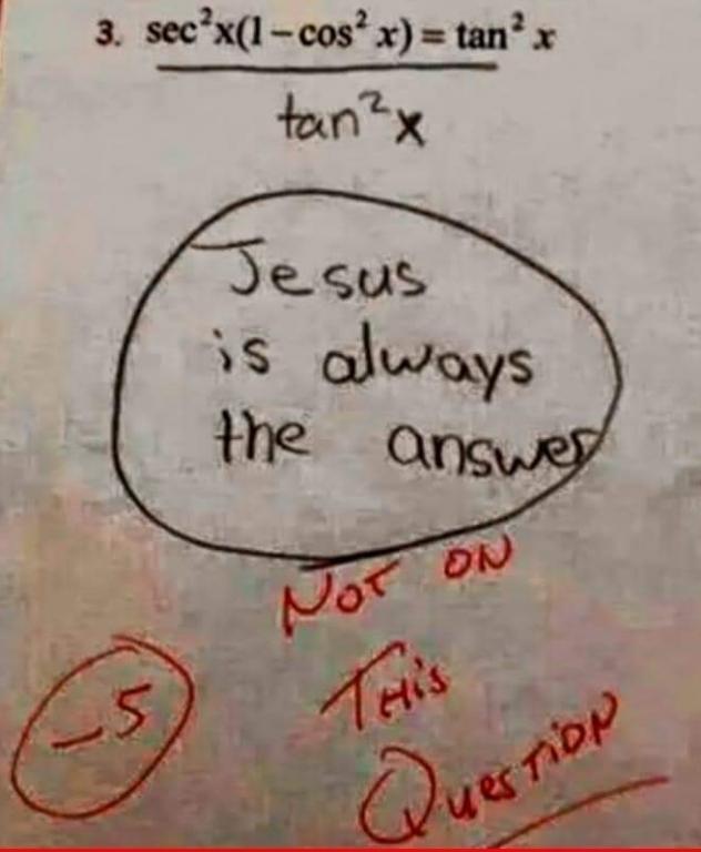 humor math jesus failure