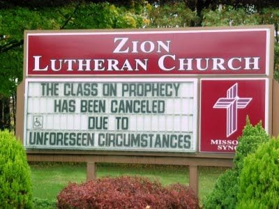 humor prophesy misspelling christianity atheism