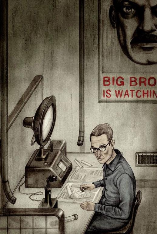 1984 donald trump censorship lies government
