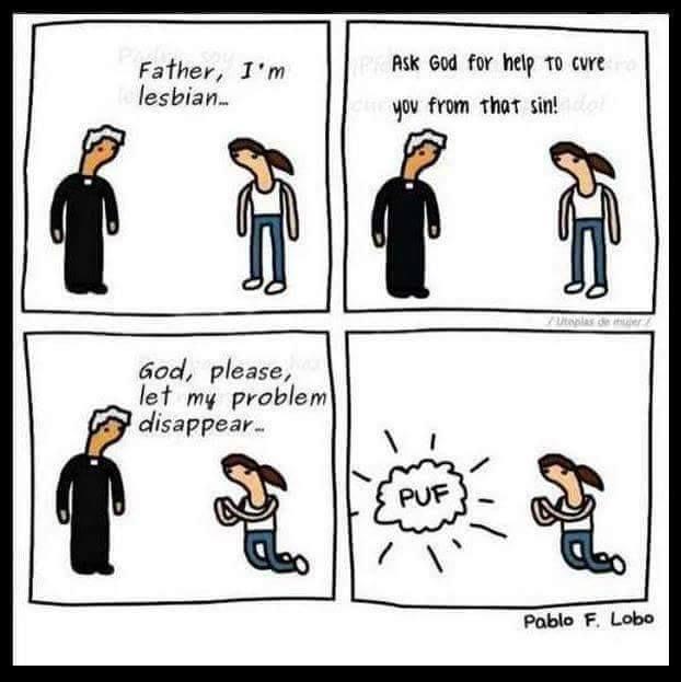 humor cartoon homophobia christianity discrimination hate