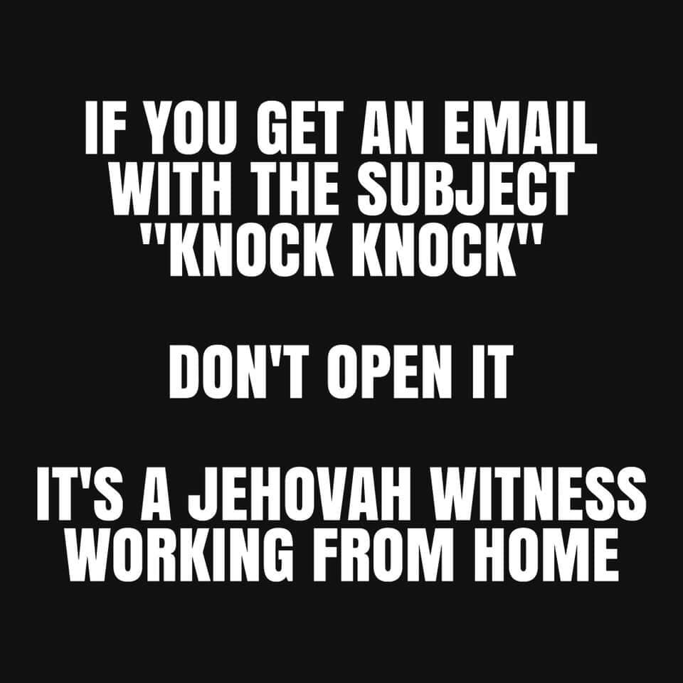 humor jehovah witnesses proselytizing christianity atheism