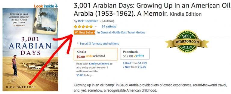 saudi arabia memoir rick snedeker amazon bestseller