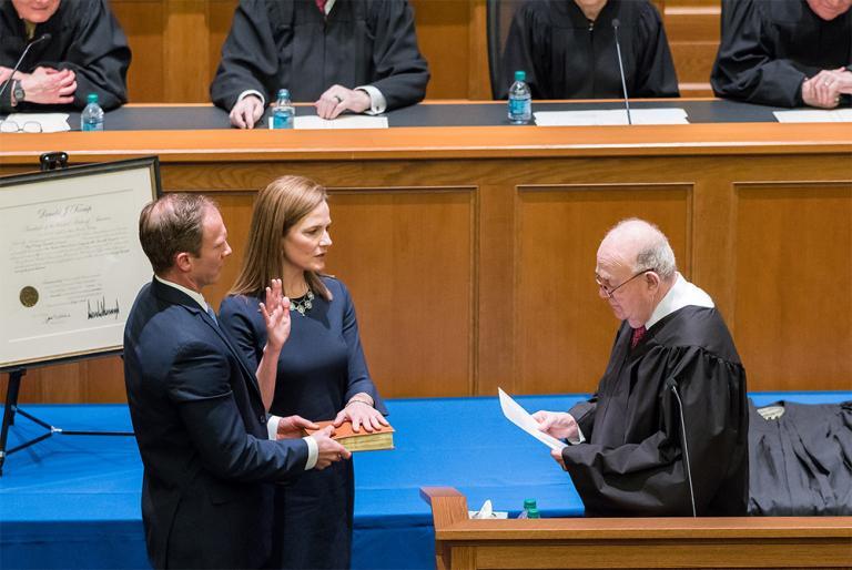 amy coney barrett supreme court donald trump ruth bader ginsburg