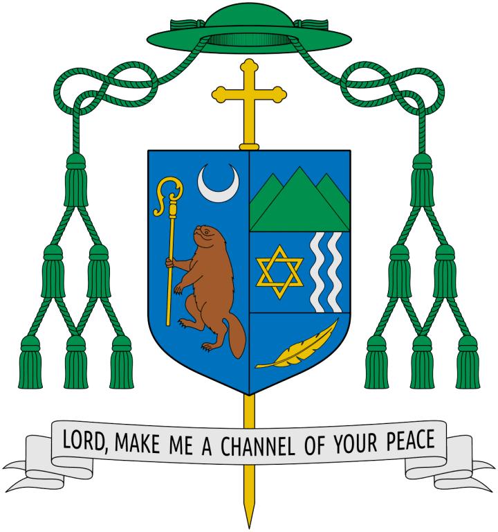 Coat of Arms of bishop Edward Bernard Scharfenberger, Bishop of Albany (SajoR CC BY-SA 2.5)