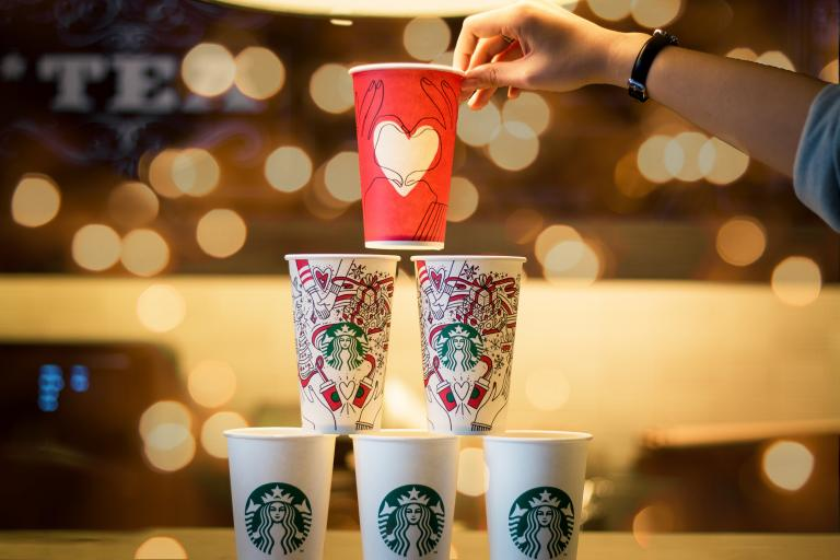 Starbucks Cups (quan le on Unsplash CC0)