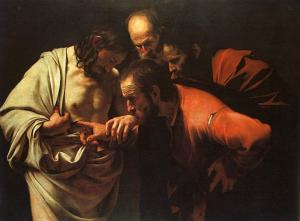 The Incredulity of Saint Thomas by Caravaggio (public domain)