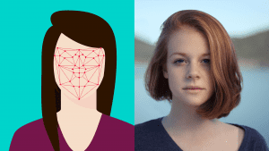 Facial recognition (2 images)