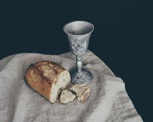 Bread and Wine representing the Eucharist