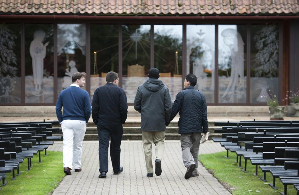 4 Seminarians walking