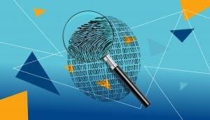Magnifying Glass Over Digital ID Fingerprint (CC0 pxfuel)