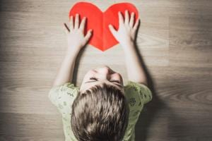 Autistic Boy with Heart
