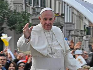 Pope Francis in Prato, Italy in 2015