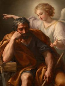 Painting by Anton Raphael Mengs called The Dream of St. Joseph