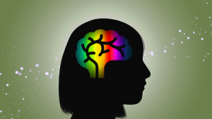An autistic brain graphical illustration