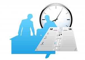 Clock and calendar for a meeting (CC0 pixabay)