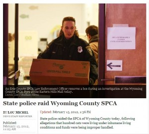 State police raid Wyoming County, NY SPCA following charges