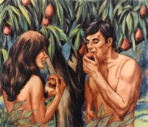 """Adam and Eve eat the """"apple."""""""