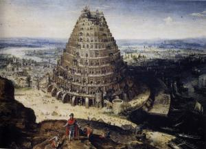 Imaginative rendition of the Tower of Babel