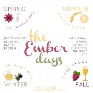 Symbols of the Ember Days for each season of the year.
